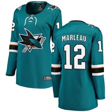 Breakaway Fanatics Branded Women's Patrick Marleau San Jose Sharks Home Jersey - Teal